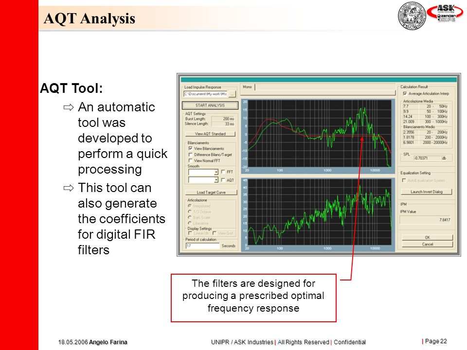 AQT Analysis AQT Tool: An automatic tool was developed to perform a quick processing.