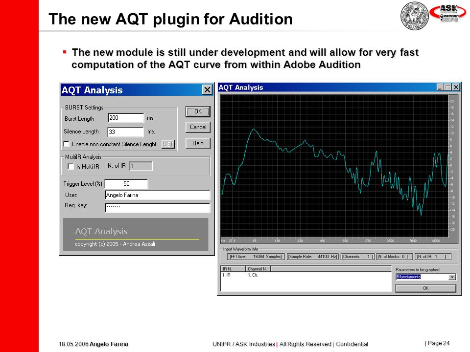 The new AQT plugin for Audition