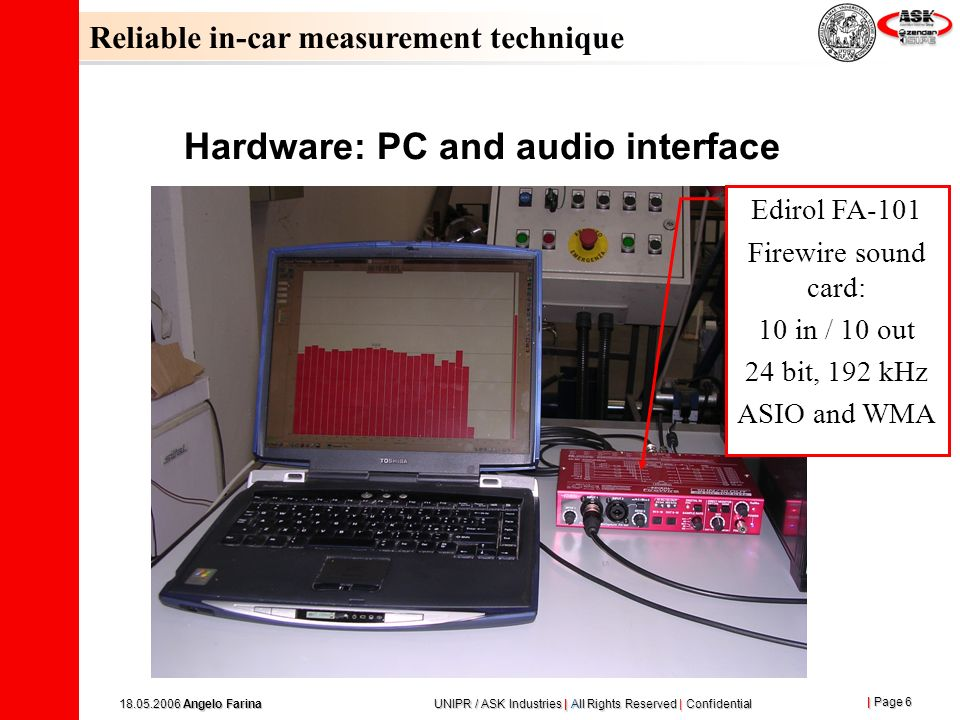 Hardware: PC and audio interface