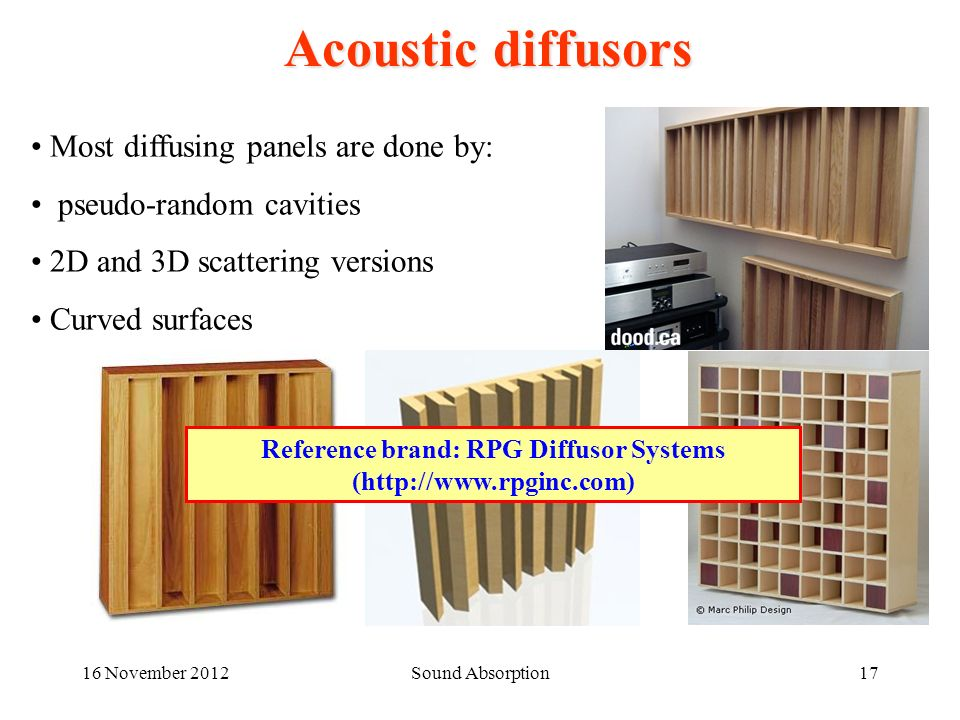 Reference brand: RPG Diffusor Systems (http://www.rpginc.com)