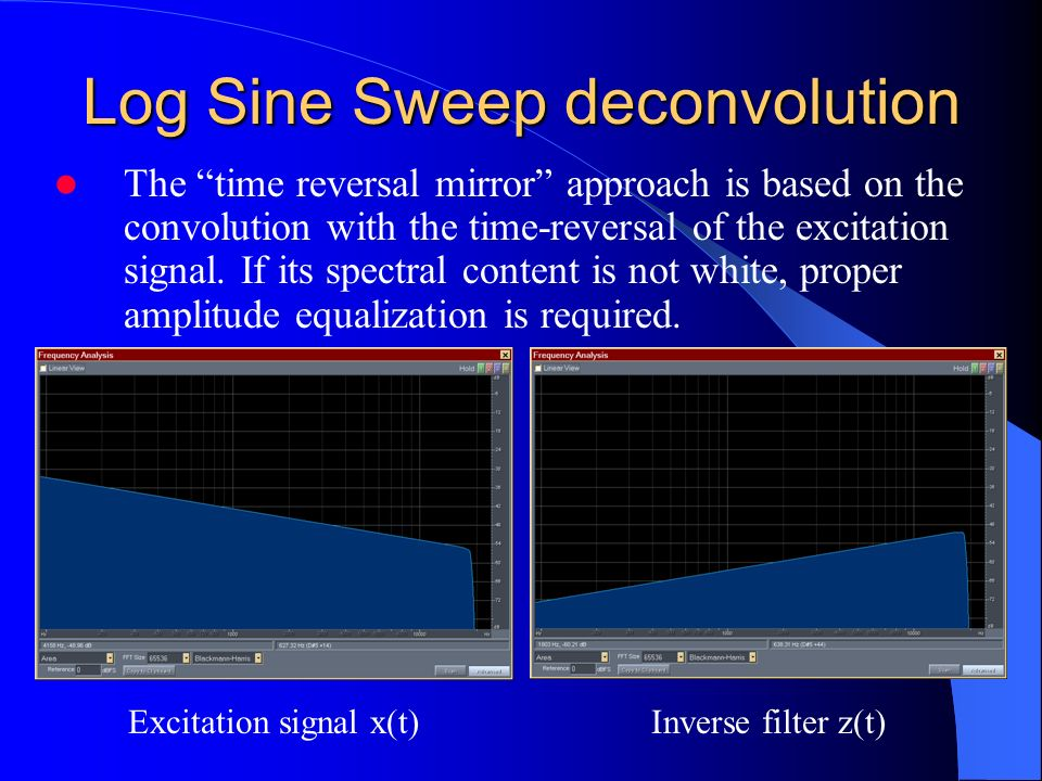 Log Sine Sweep deconvolution