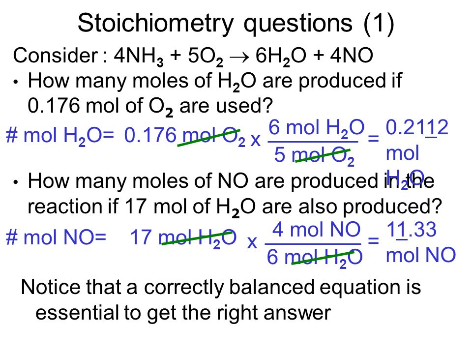Stoichiometry questions (1)