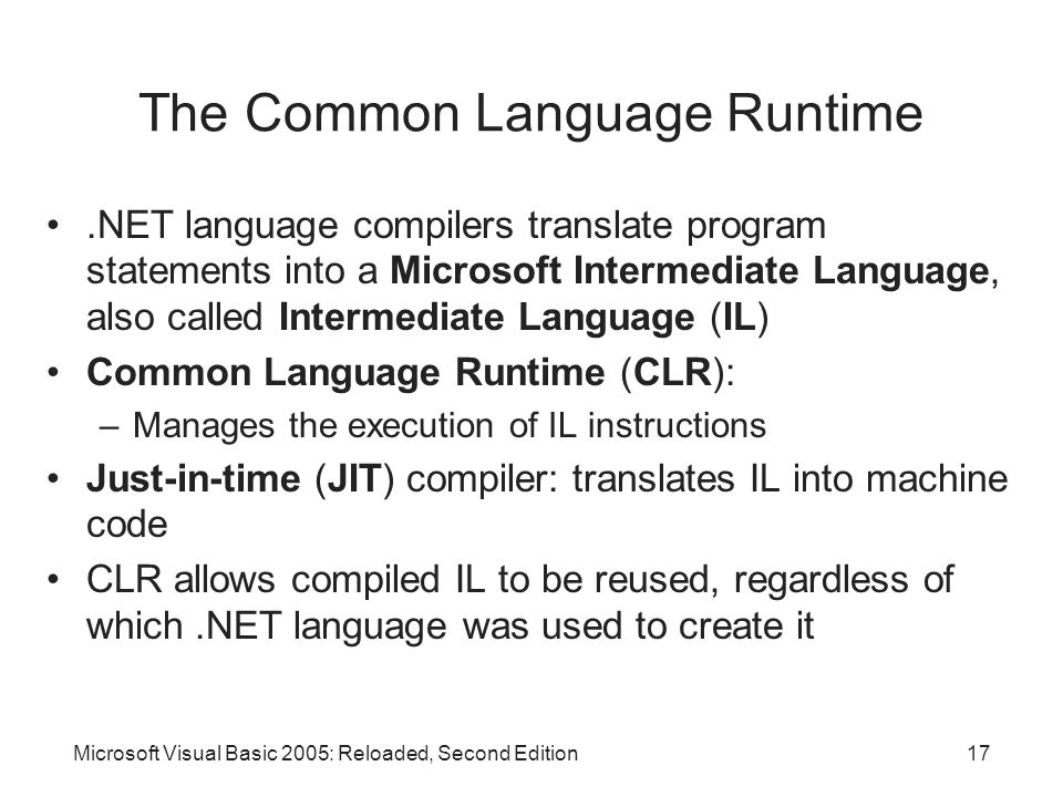 The Common Language Runtime