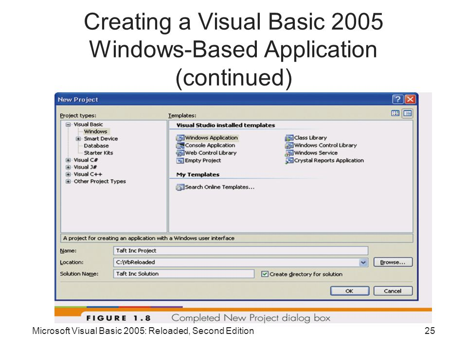 Creating a Visual Basic 2005 Windows-Based Application (continued)