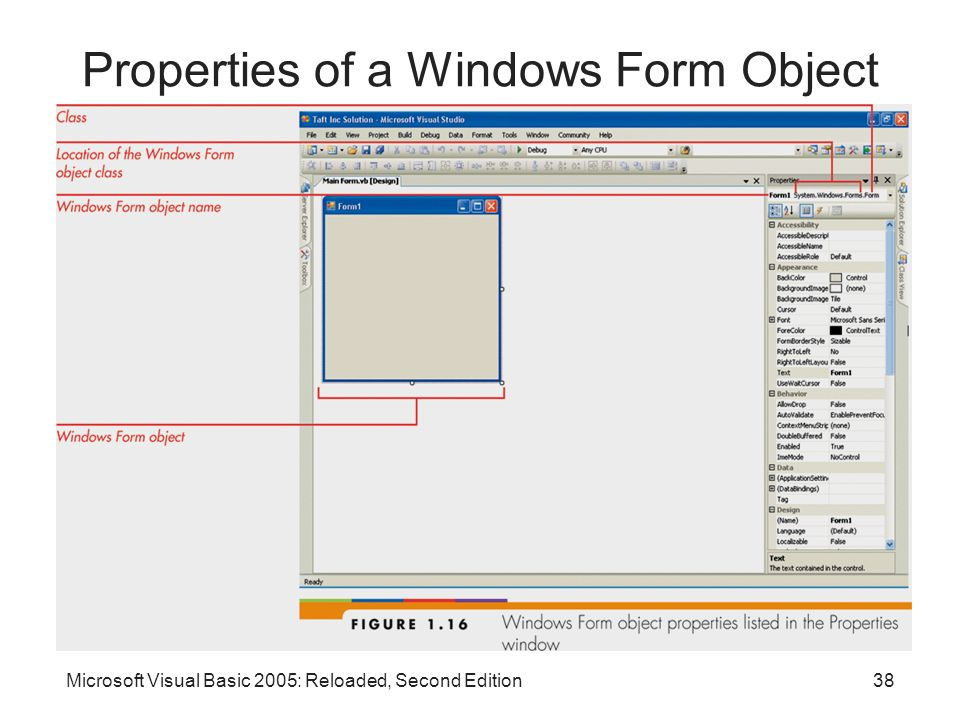 Properties of a Windows Form Object