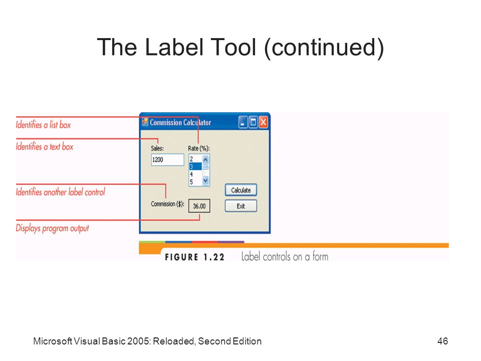 The Label Tool (continued)