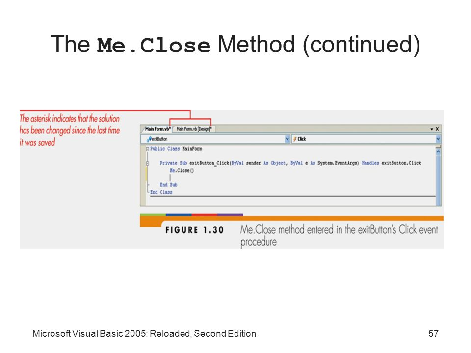 The Me.Close Method (continued)