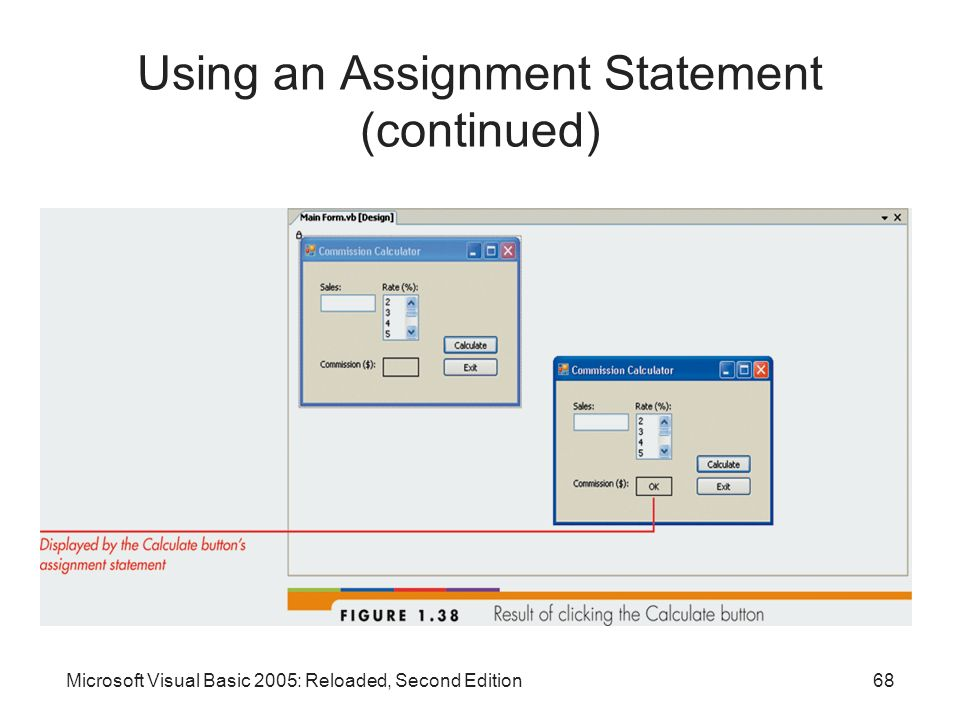 Using an Assignment Statement (continued)