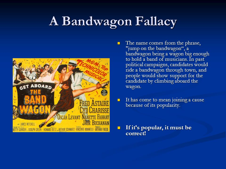 bandwagon fallacy definition and examples