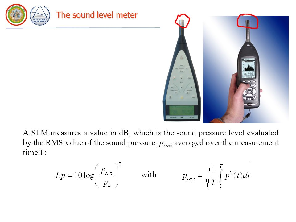 The sound level meter