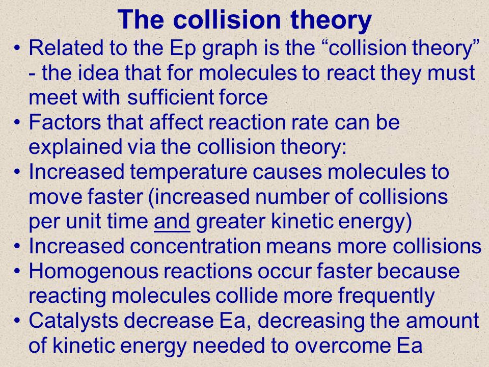 The collision theory 3/27/2017.