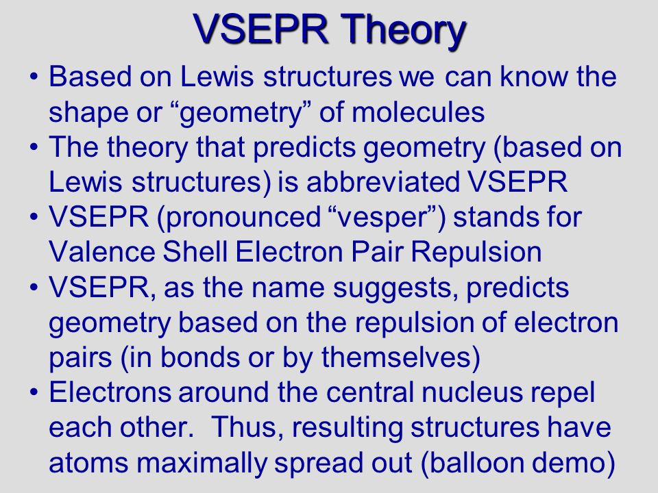 VSEPR Theory 06/10/99. Based on Lewis structures we can know the shape or geometry of molecules.