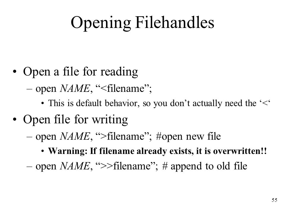 perl open file for writing append