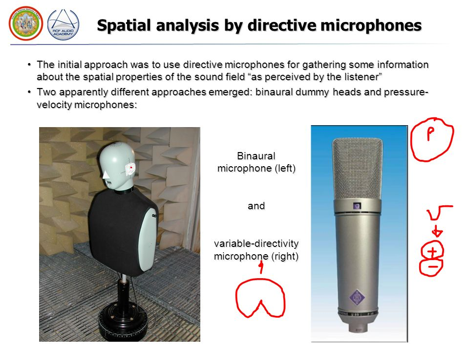 Spatial analysis by directive microphones