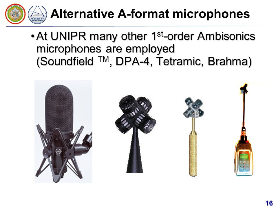 Alternative A-format microphones