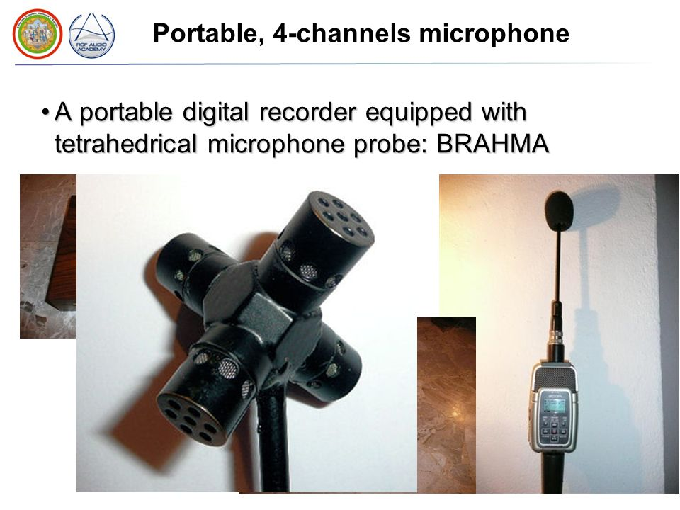 Portable, 4-channels microphone