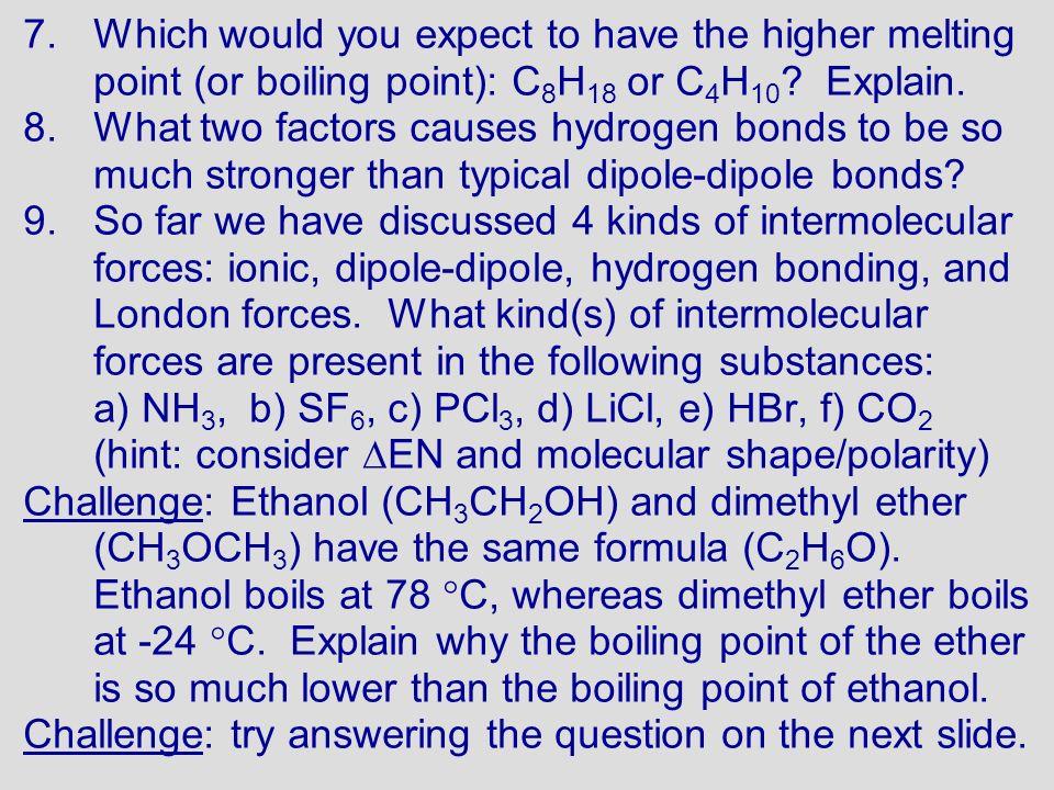 a) NH3, b) SF6, c) PCl3, d) LiCl, e) HBr, f) CO2