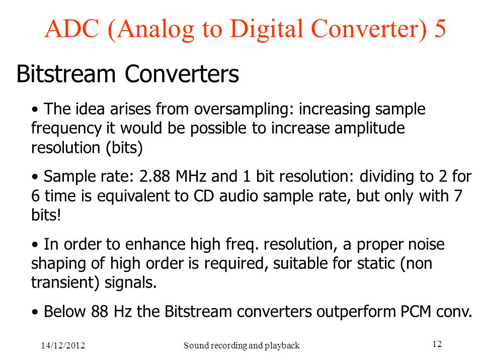 ADC (Analog to Digital Converter) 5