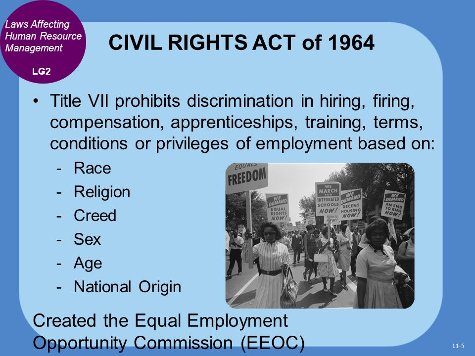 employment laws human resources Learn about several laws, regulations, policies and governing entities that human resource management (hrm) must comply with, like the civil rights act of 1964, title vii, the equal employment .