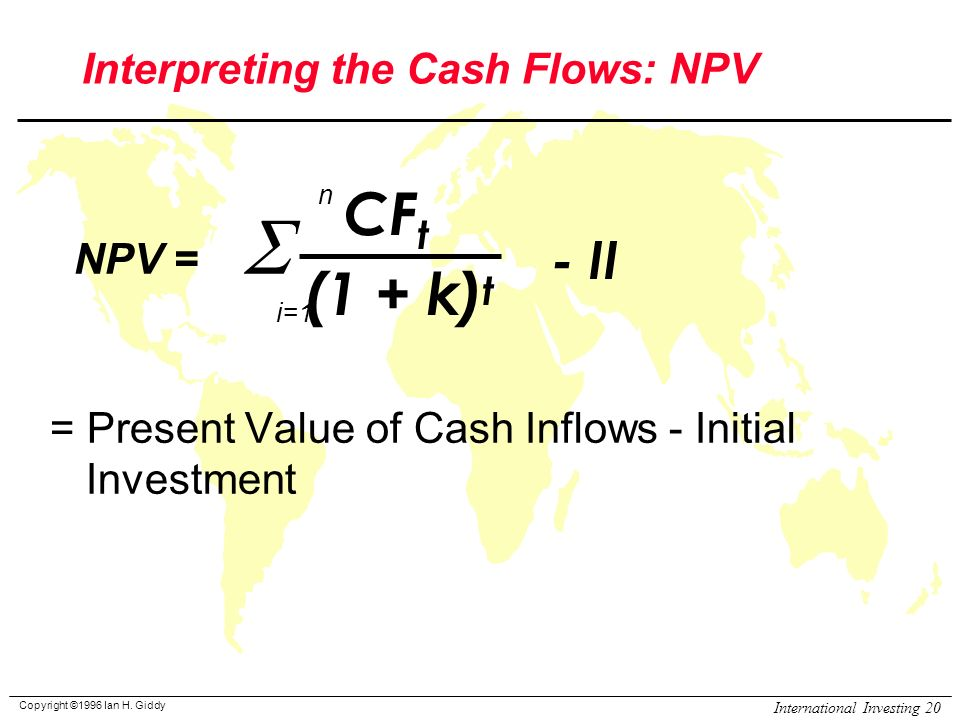an analysis of international rate of return irr and net present value npv Npv (net present value) and irr (internal rate of return) are different methods used to estimate the profitability of a project by comparing npv and irr methods, this article identifies the key differences between them and how these can be successfully used for making business decisions.