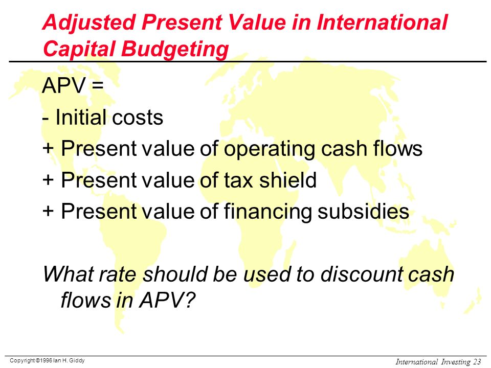 present value and capital budgeting Overview of capital budgeting  net present value is the traditional approach to evaluating capital proposals, since it is based on a single factor.