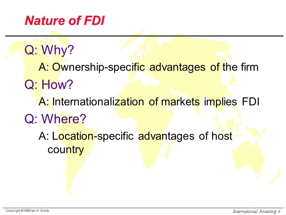 benefits and cost of fdi to host country Introduction: the benefits of fdi for host country's economy  costs in the host  market, which could drive local companies out of business and allow the.