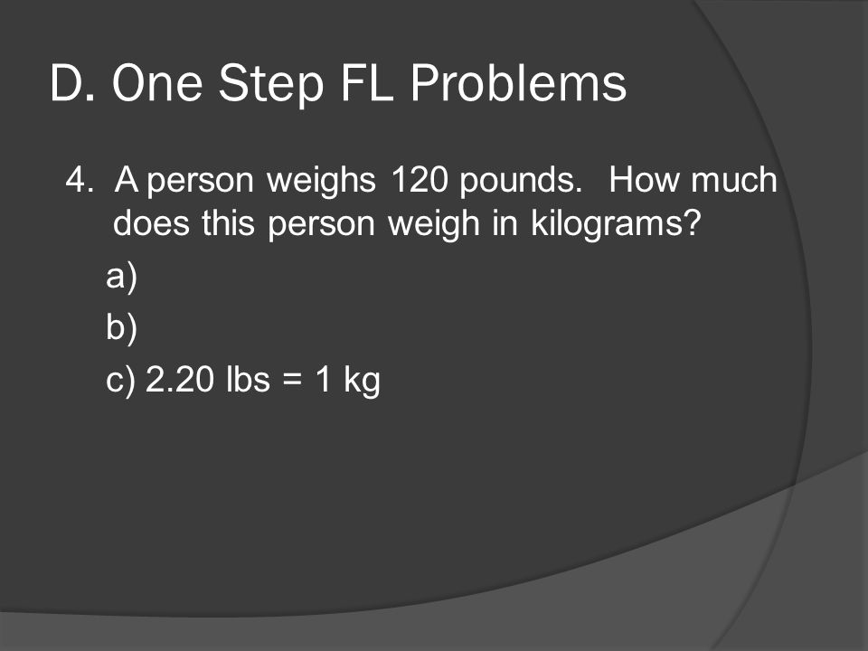 how many kg is 105 lbs