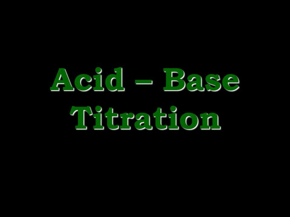 Acid – Base Titration