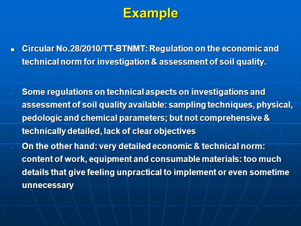 Assessment of vietnam s policy and legal framework on for Soil quality parameters