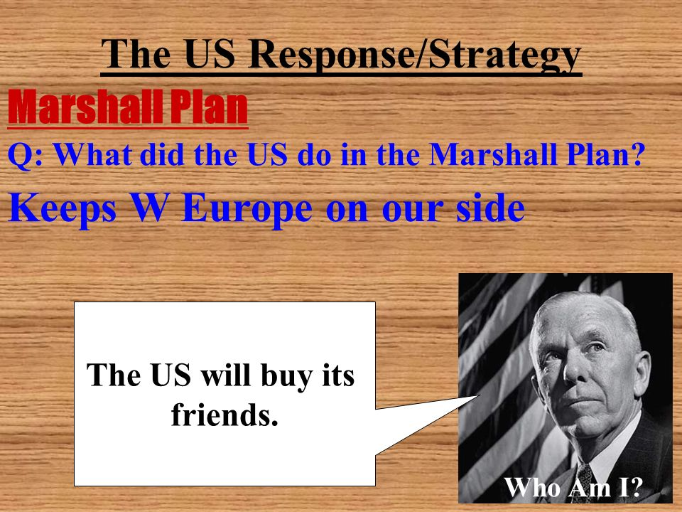 The US Response/Strategy