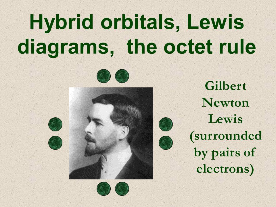 Hybrid orbitals, Lewis diagrams, the octet rule