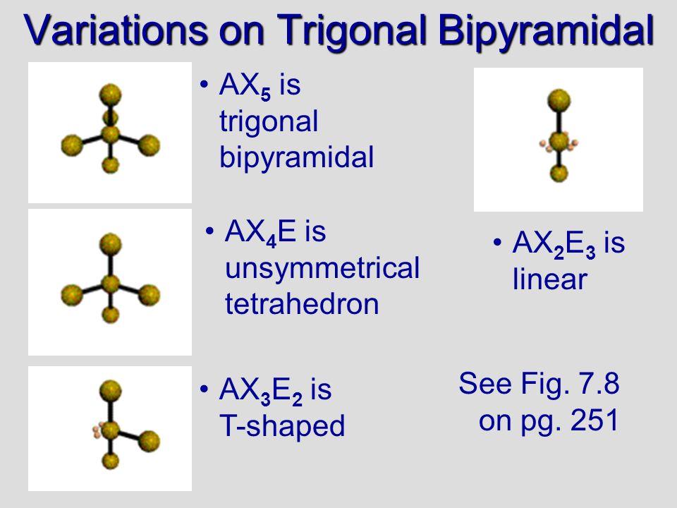 Variations on Trigonal Bipyramidal