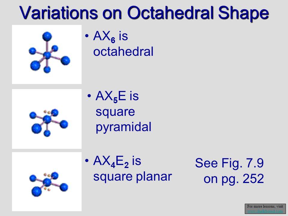 Variations on Octahedral Shape