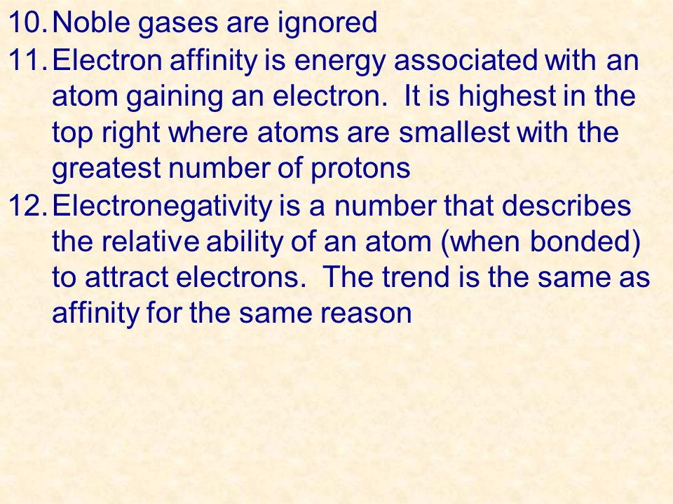 Noble gases are ignored