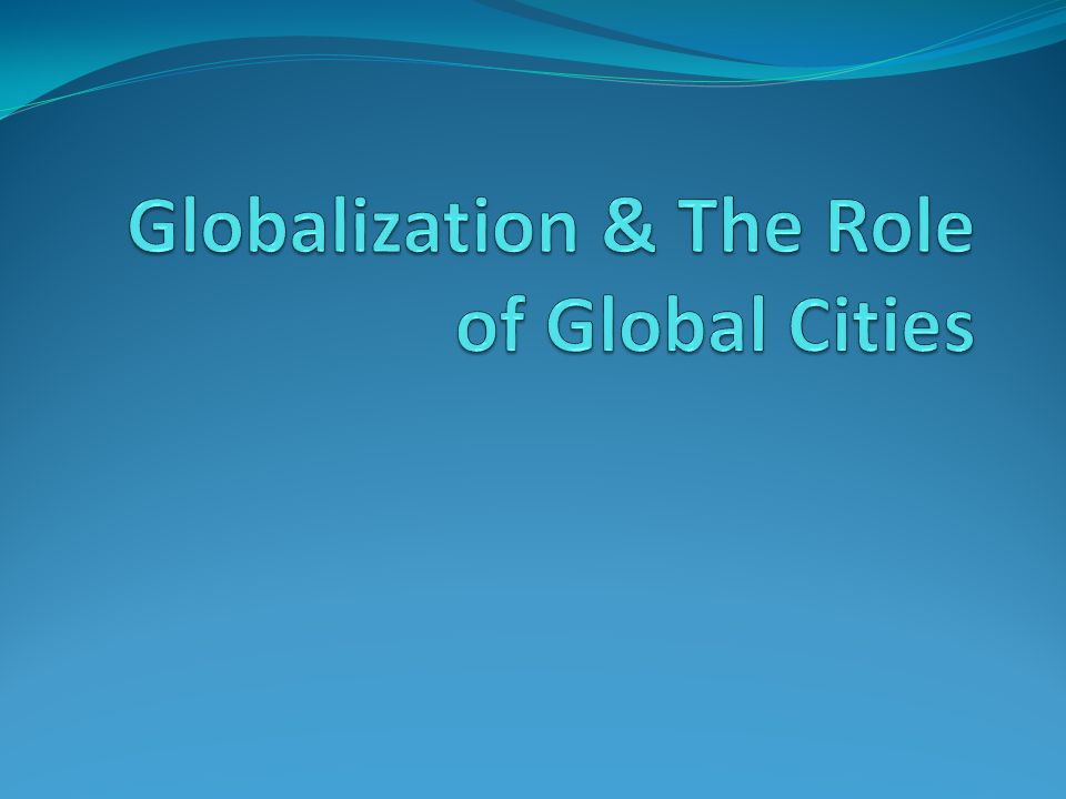 the role of internet in globalisation The impact of new media on intercultural communication in global context  introduction of computers and the internet in the early  focus on the role media.