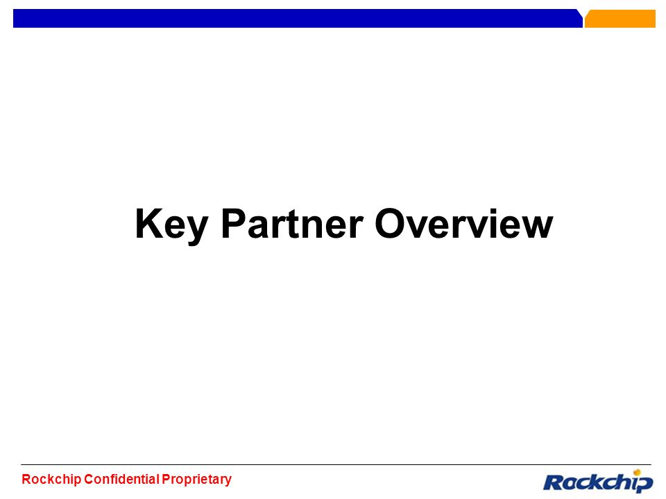 Key Partner Overview