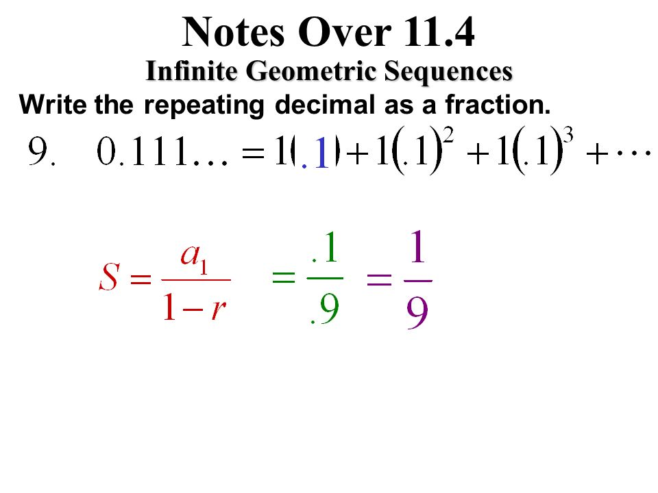 writing repeating decimals as fractions Decimal to fraction  the little bar convention for writing repeating decimals the subtraction trick for converting repeating decimals to fractions.