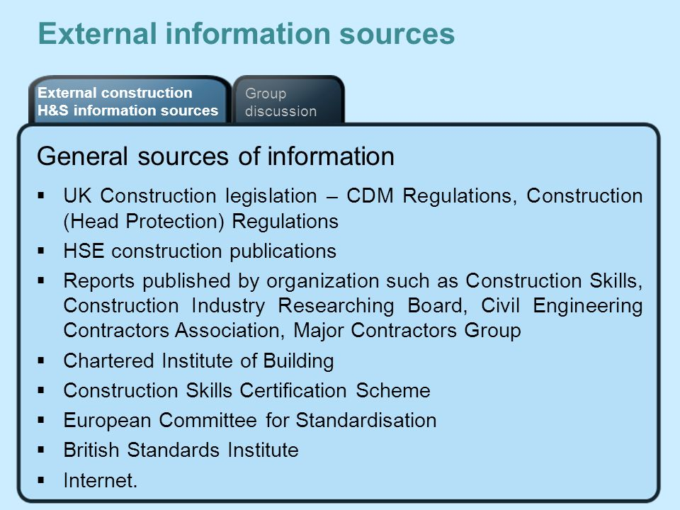 External information sources