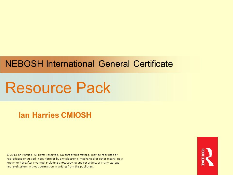 Resource Pack NEBOSH International General Certificate