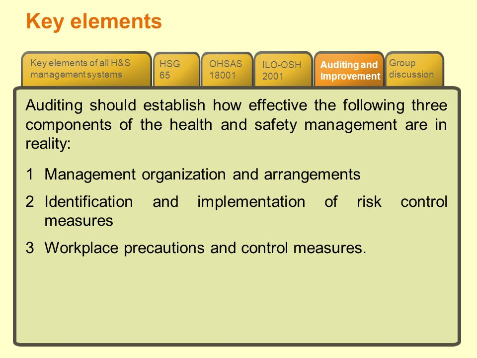 NGC1 Management of Health & Safety