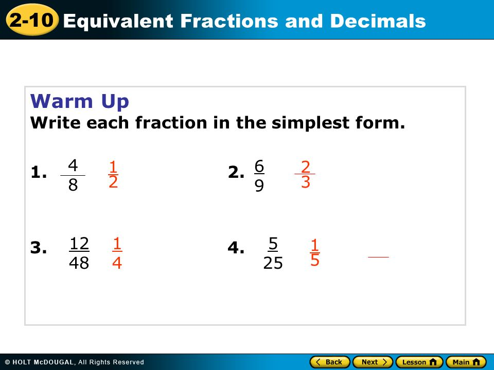 simplest form 3/9  Warm Up Write each fraction in the simplest form - ppt video ...
