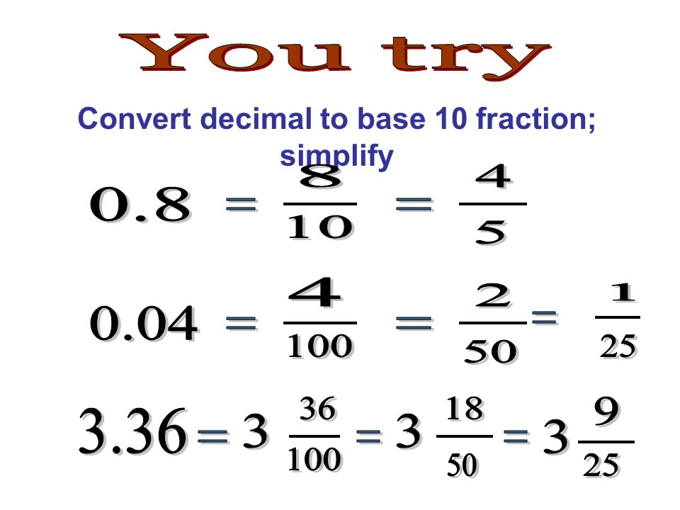 how to turn 5 100 to decimal