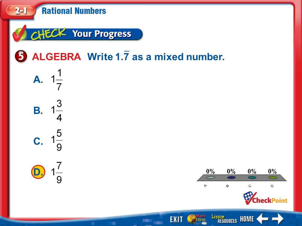 write as a mixed number