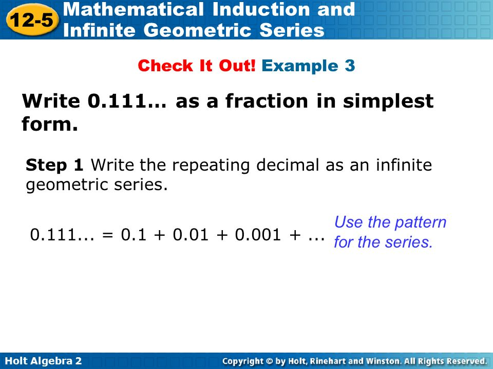 What is 3 repeating as a fraction in simplest form?