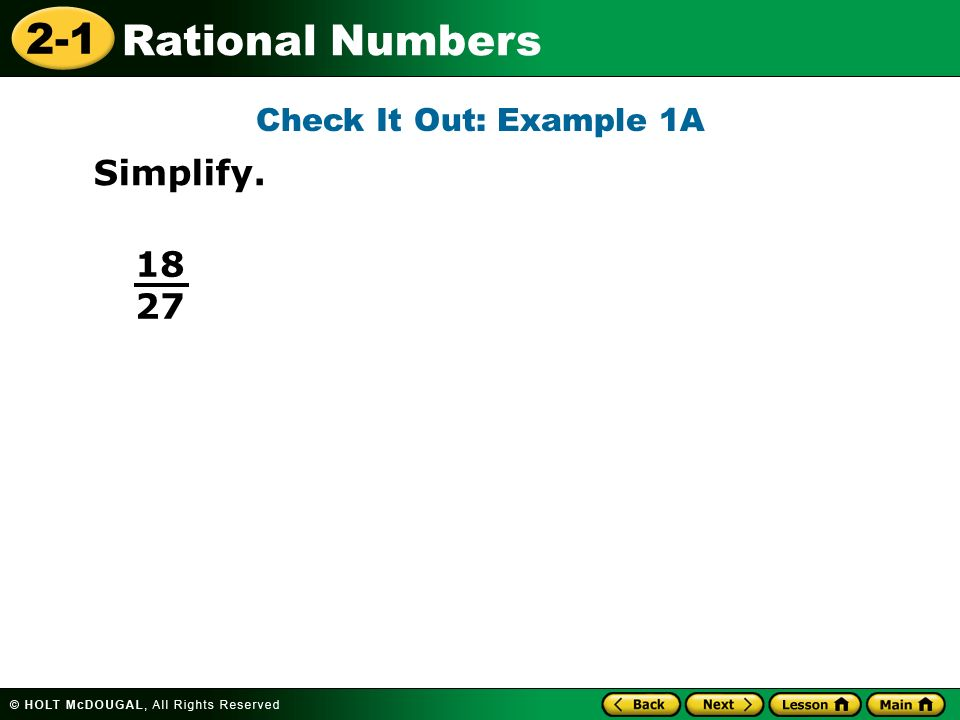 Check It Out: Example 1A Simplify