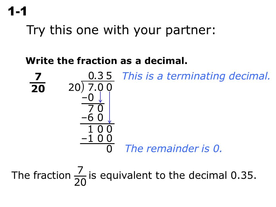 writing a percent as a fraction Get up to speed with decimal, percent and fraction practice test questions.