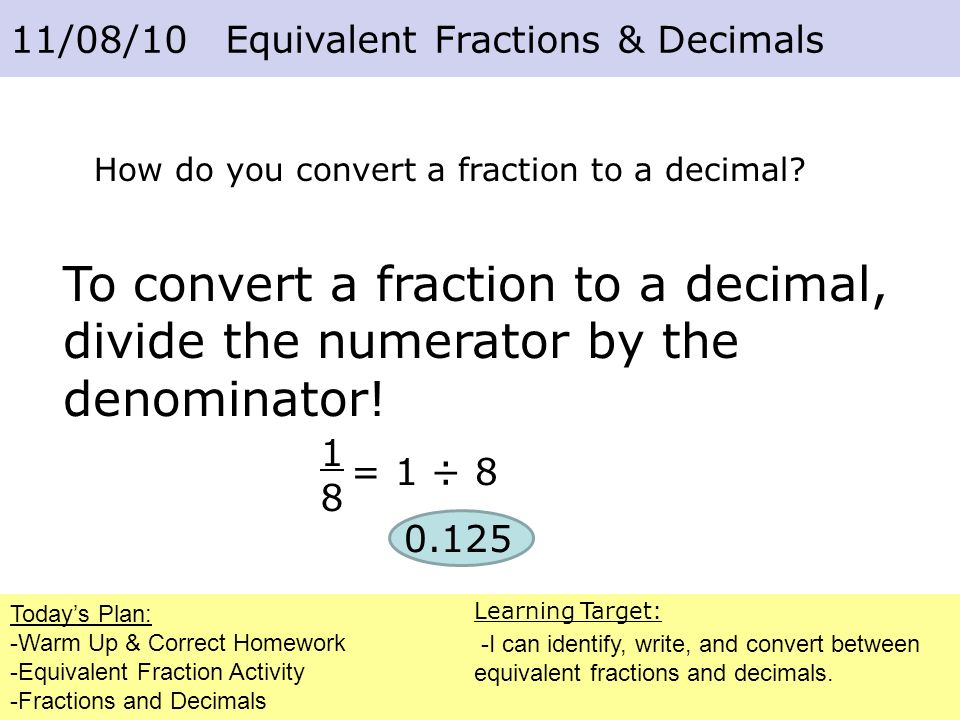 Fractions and Decimals - ppt download