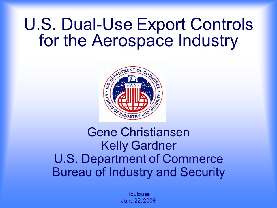 u s dual use export controls for the aerospace industry. Black Bedroom Furniture Sets. Home Design Ideas