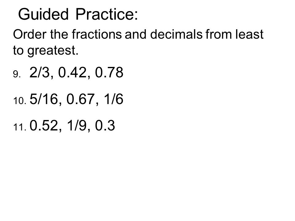 Today's subject is… Decimals and Fractions - ppt download