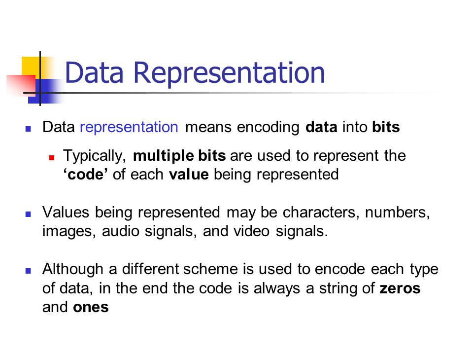 state the relationship of data representation bit byte and character